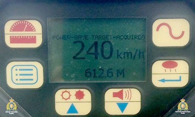 Driver caught going 240 km/h on Coquihalla Highway