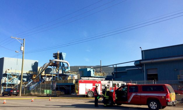 Merritt mill down following small fire