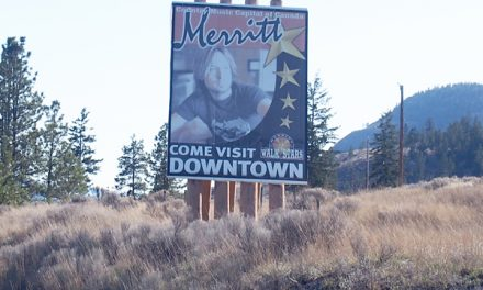 Faded signs along highways coming down