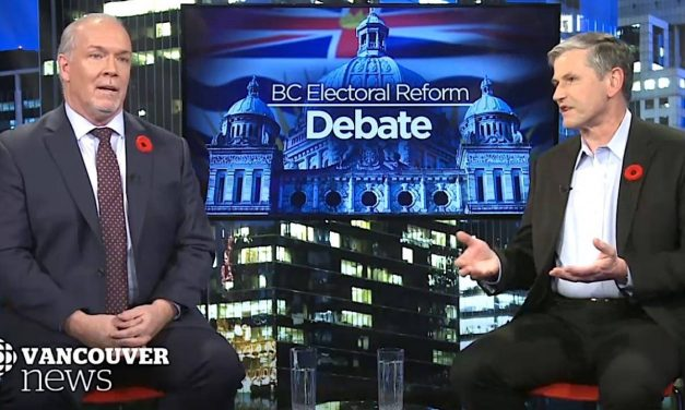 John Horgan, Andrew Wilkinson square off on B.C. voting referendum