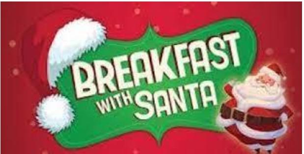 COVID-safe breakfast with Santa