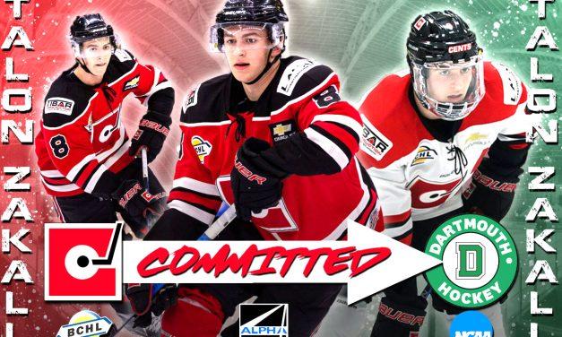 Merritt native commits to Dartmouth hockey